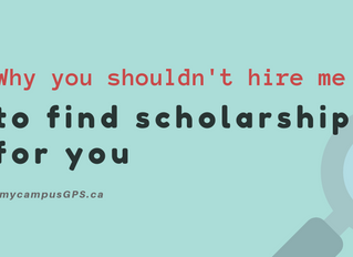 Why you shouldn't hire me to find scholarships for you