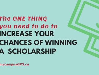 Do this one thing to increase your chance of winning a scholarship