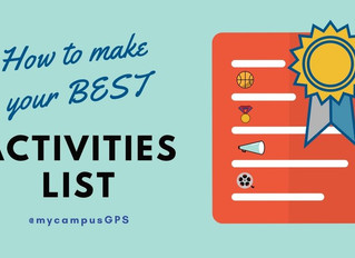 How to make your best activities list for a scholarship