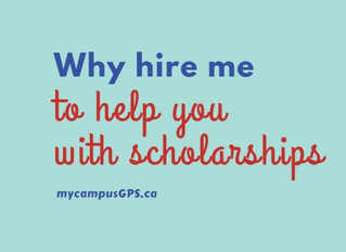 Why hire me to help you with scholarships?
