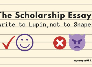 The Scholarship Essay: write to Lupin, not to Snape