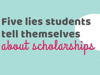 Five lies students tell themselves about scholarships