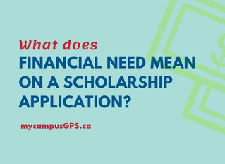 """What is """"financial need"""" on scholarships?"""