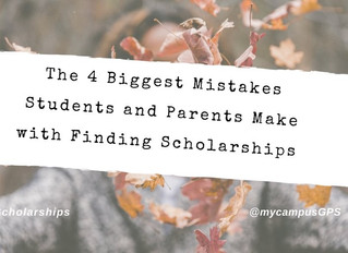 The 4 biggest mistakes with finding scholarships
