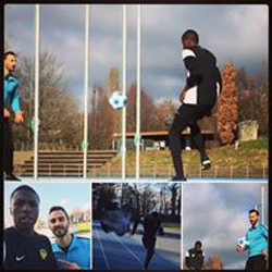 Training with Malula (Young Boys)