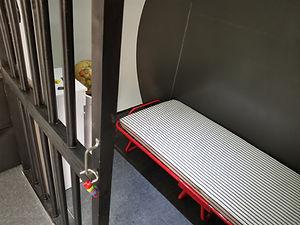 Cellule prison Ca2naS escape game itinérant en Ille-et-Vilaine dans caravane