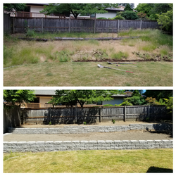Installation of a retaining wall