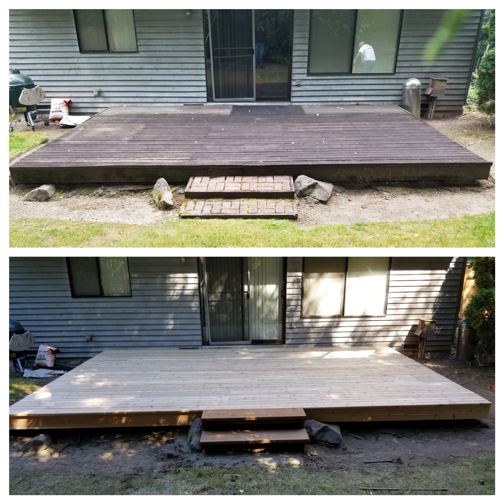 Renovation of a deck