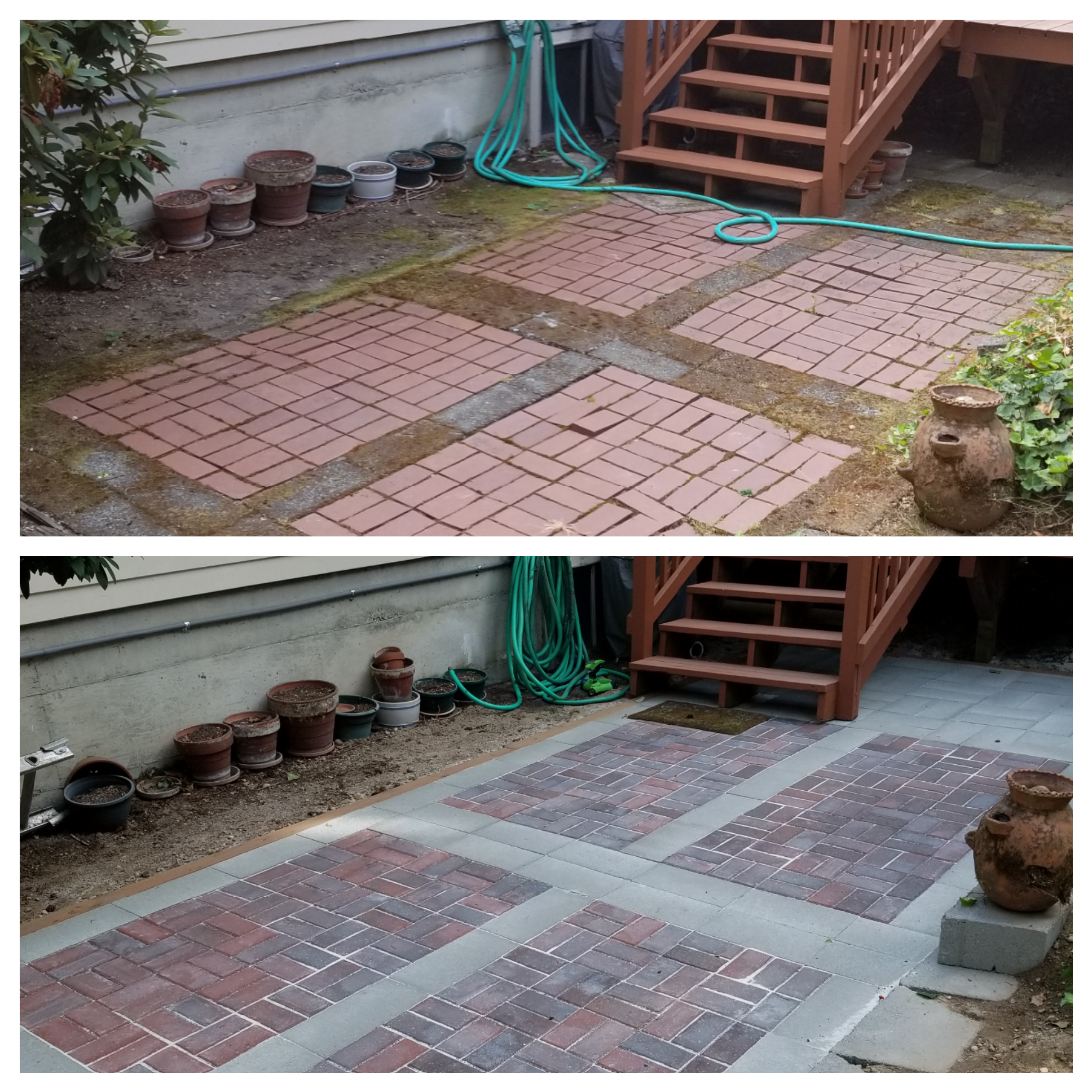 Renovation a patio area