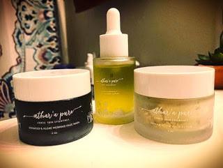 skincare, vegan skin care, algae mask, turmeric, face oil