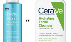 Neutrogena Hydro Boost Hydrating Cleansing Gel vs CeraVe Hydrating Facial Cleanser