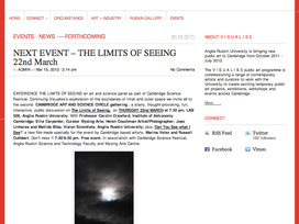 The Limits of Seeing for Visualise