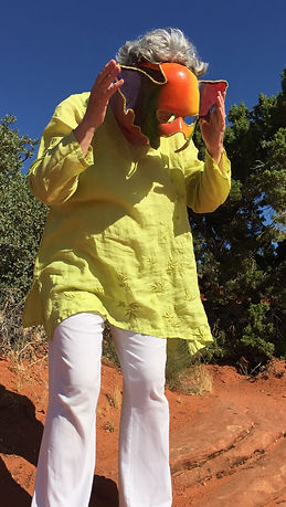 Sondra Fraleigh in Snow Canyon Butoh