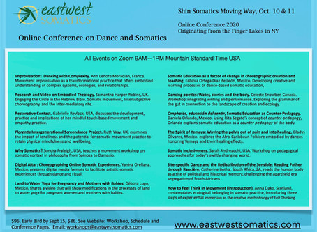 EWS Online Conference On Dance and Somatics, Oct 10 & 11, 2020