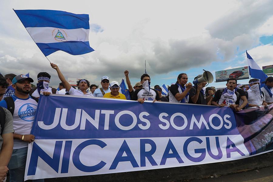 """""""Juntos somos Nicaragua"""" gritaban manifestantes en las calles de Managua - Fotografía cortesía"""