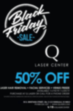 Q LASER BLACK FRIDAY PRINT READY FLYER 2