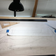 Drawing for steel string harp guitar