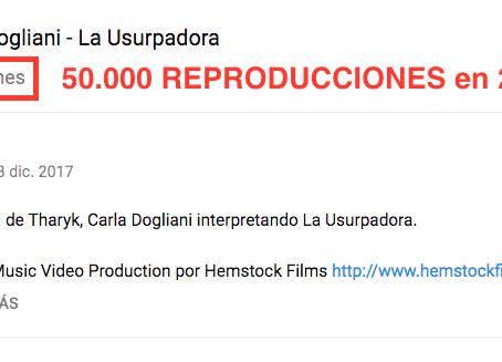 La Usurpadora - 50.000 reproducciones en sólo 24 horas y es furor en los medios!
