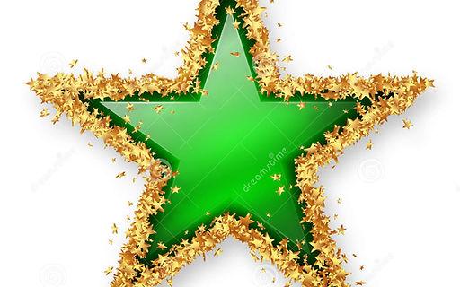 green-coloured-gemstone-star-golden-star