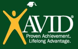 Avid logo on green copy