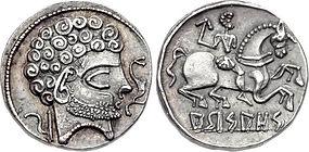 denarius of Arsaos, a city in the mounta