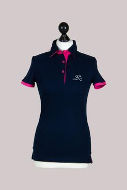 Keller Bauer dunkelblau mit pink tshirt