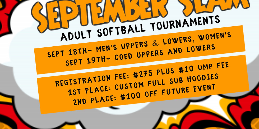 September Slam Adult Softball Tournament
