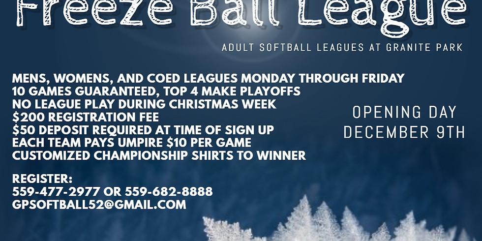 2019 Freeze Ball League Opening Week
