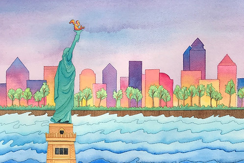 NYC Skyline Fine Art Print