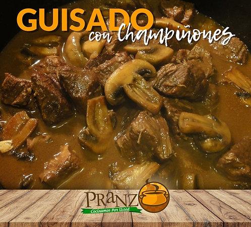 GUISADO CON CHAMPIÑONES