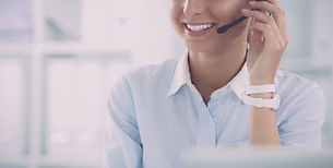 portrait of a customer service agent sit