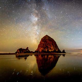 Haystack Rock Milky Way
