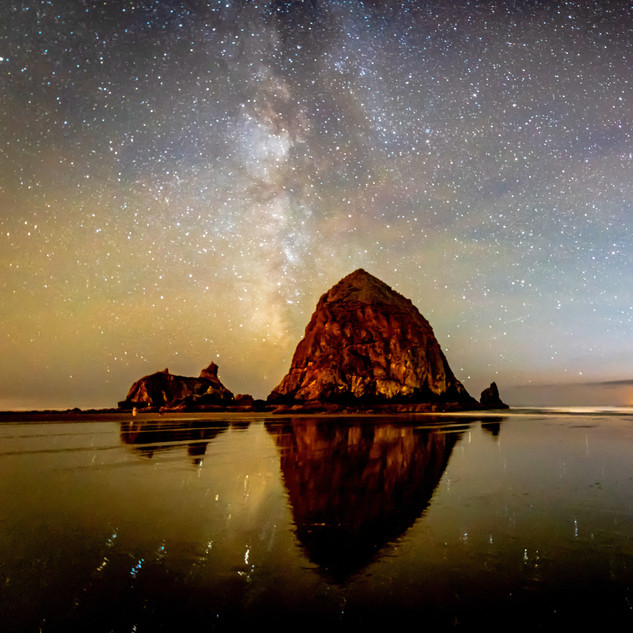 Haystack Rock Milky Way