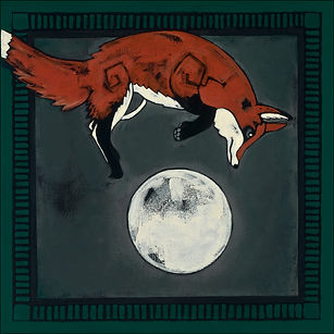 THE FOX JUMPED OVER THE MOON by Barbara