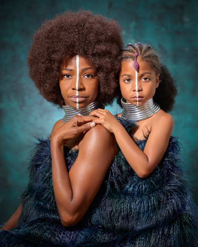 Mother and daughter, African Fine Art