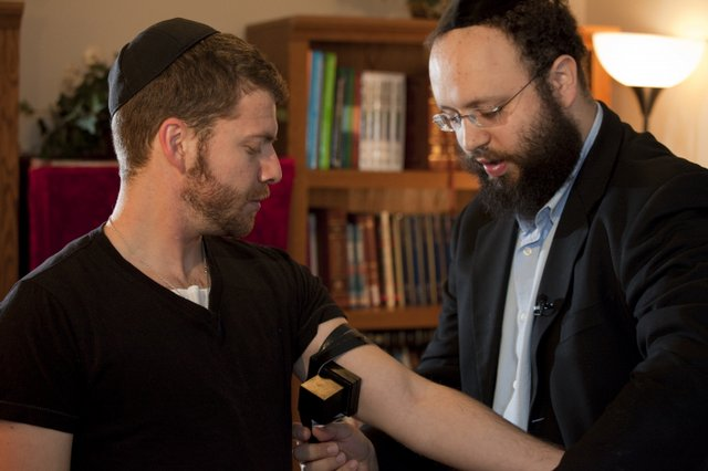 Me & Rabbi Zalman Wrappin'