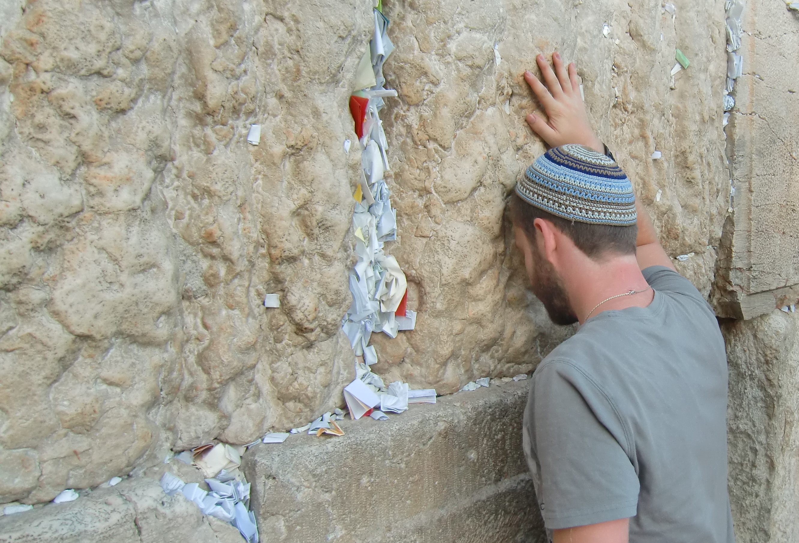 Praying at the Wall in Yerushalayim