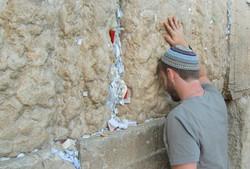 Praying at the Wall in Yerushalayim