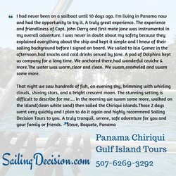 Testimonial of a great time!