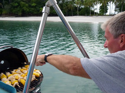 Barbeque on board