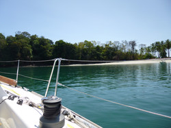 Anchored at Isla Gamez