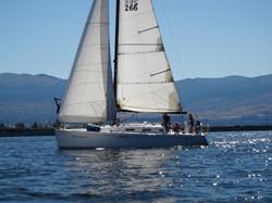 Sailing Decision underway