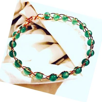 Aventurine Copper Wire Bracelet