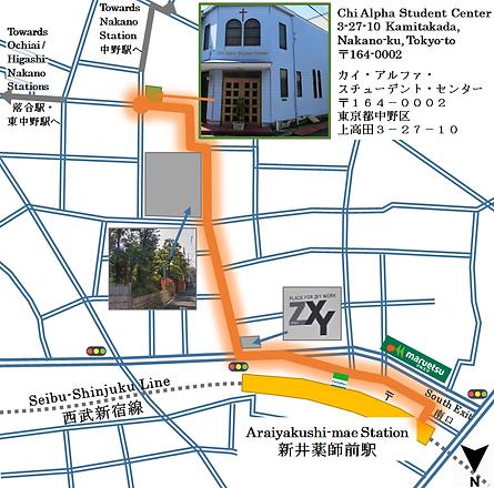 スチューデント・センターへ地図
