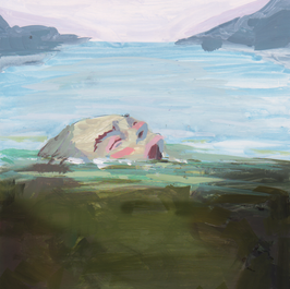 """""""Drowning"""" Gouache Painting for Editorial Illustration"""