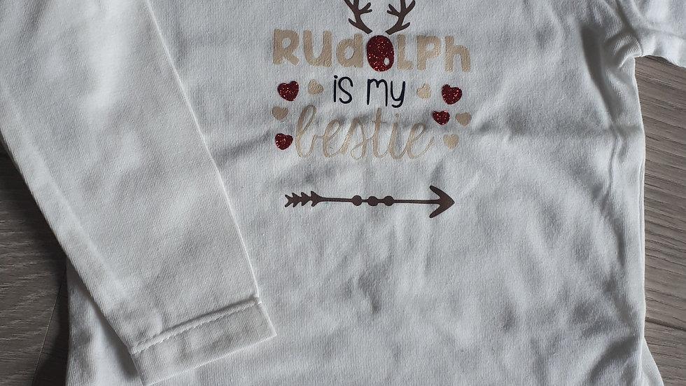T-shirt 'Rudolph is my bestie'