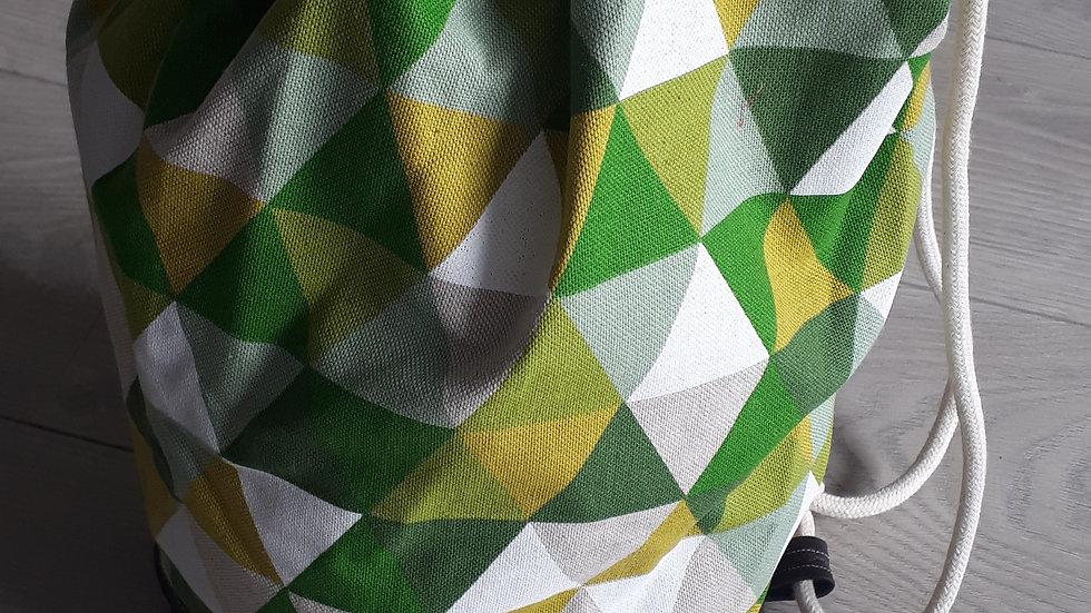 Turnzak met driehoekjes groen