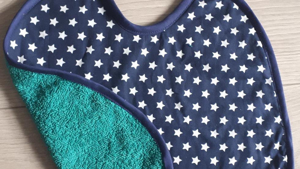 Slabbetje blauw met sterren
