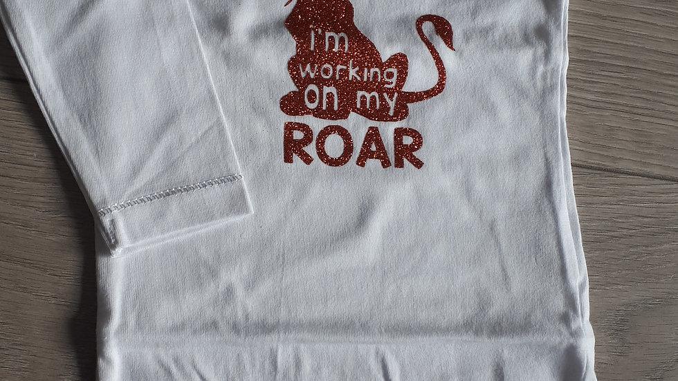 Romper 'I'm working on my roar'