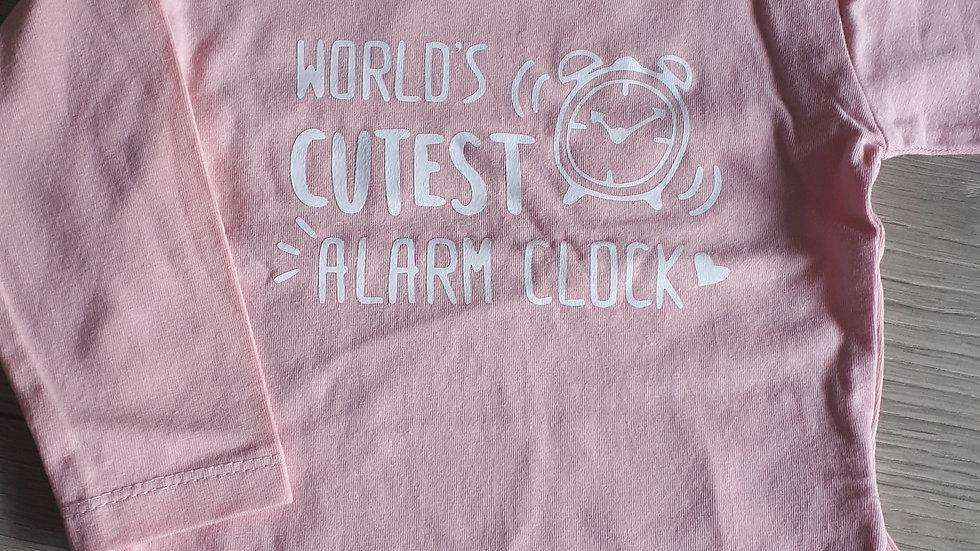T-shirt 'World's cutest alarm clock'